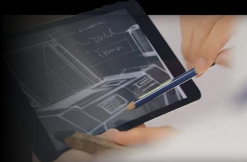 Designing hardware on a tablet