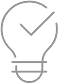 A lightbulb representing Hyosung Retail Software