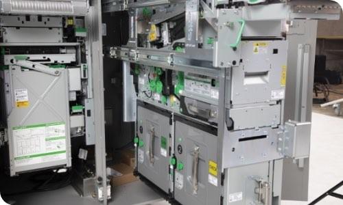 Inside of a machine